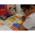 We have been adding numbers with Numicon.