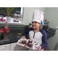 What a great chef's hat Zarak is wearing!