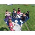 We had a picnic in the sun!