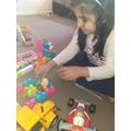 Hafsa creating a jungle
