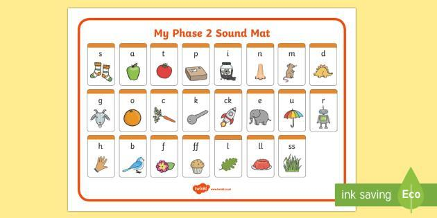 These are the sounds we will be learning through phase 2.