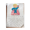 Fatima created a superhero called Superbob.