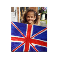 Kainaat painted a Union Jack for Grandma Margaret.