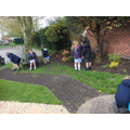 Y2 worship in the prayer garden