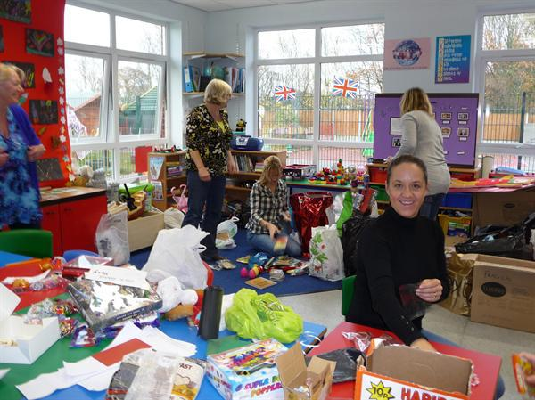 PTA Preparing for Christmas Fayre