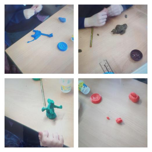 Fine motor and making up stories