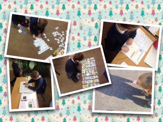 Building words and short sentences