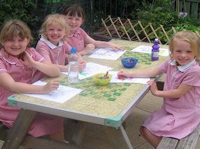 Colouring and craft activities.