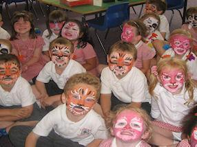 We had our faces painted to celebrate Holi.