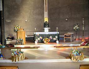 The prepared altar