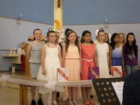 Children ready to sing the Responsorial Psalm.
