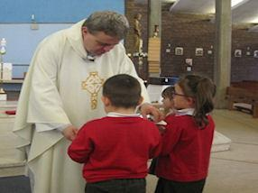 We received a special blessing from Father John.