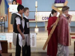 The Fifth Station: Simon of Cyrene helps Jesus