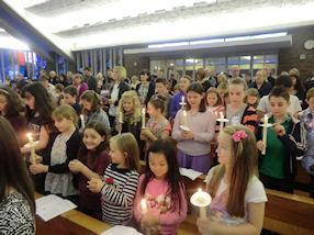 The children renewing the promises