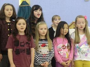 The children sing the Responsorial Psalm,