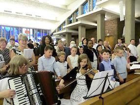 Our musicians and choir.