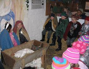 We retold the Christmas Story in a stable.
