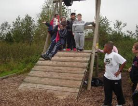 Fun on the assault course