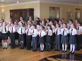 The choir sang carols and some World War songs.