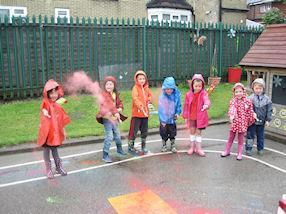 We made everything as colourful as we could.