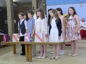 Children sing the Responsorial Psalm.