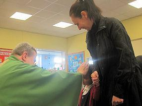 We received a special blessing from Father John