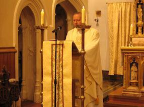 Father Michael celebrates Mass for us.