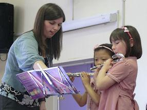 Various flute duets from children in Year 2, 5, 6