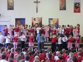 Year 4 children enjoy playing their flutes.
