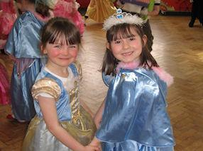 Princesses for the day.
