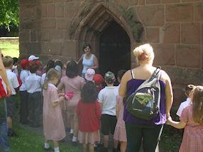 Visiting St Giles' Church.
