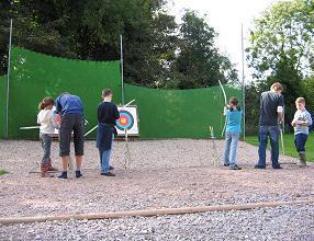 Enjoying archery