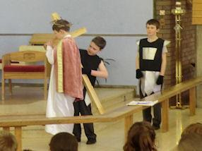The Third Station - Jesus takes up His cross.