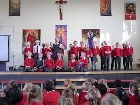 Year 2 singing 'The Ants Go Marching In'.