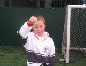 The team Captain with his runners-up medal.