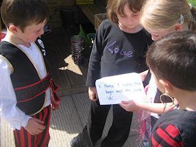 We had lots of fun on the treasure hunt.