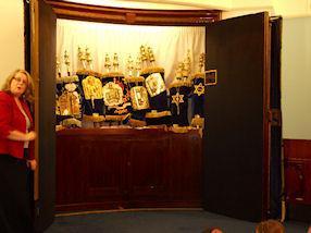 The Ark, where the Torah Scrolls are kept