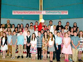 St Thomas More's Confirmation group of 2014.