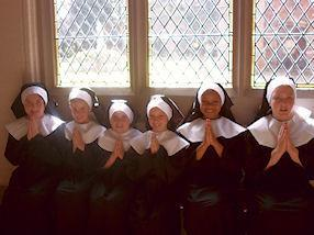 Our 'Nuns' praying in the cloister