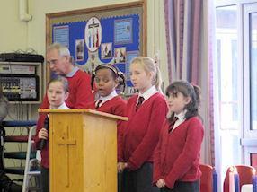 Year 5 girls singing the Responsorial Psalm.
