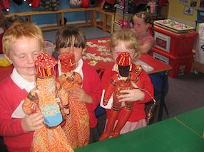 We retold the story of Divali with puppets.