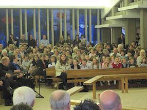 Choir and congregation.