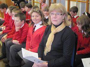 Mrs Patrick waiting for her special Mass to begin.