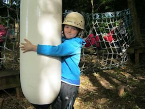 The adventure course was challenging.