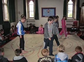 We prayed a Labyrinth prayer.