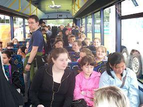 Anticipation mounts as we arrive on the coach.