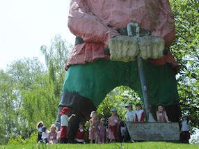 The children enjoyed meeting the Giant.