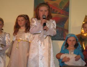 Angelic singing.