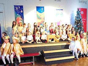 The children retold the story of Jesus