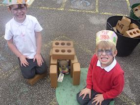 We enjoyed making new homes for our bears.